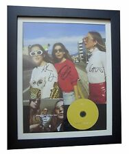 HAIM+SIGNED+FRAMED+SOMETHING TO TELL YOU+WANT YOU=100% GENUINE+FAST GLOBAL SHIP