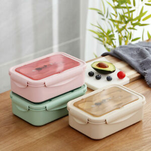 Bento Box Students Lunch Box Eco-Friendly Leakproof Food Container +Tableware AU
