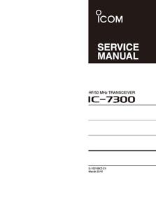 Icom IC-7300 Service Manual - Full Color