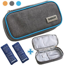 Insulin Cooler Storage Bag Portable Insulated Diabetic Organizer with Ice Packs