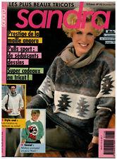 ▬► SANDRA  113 de DÉCEMBRE 1993 MODE  TRICOT FEMMES ENFANTS HOMMES HIVER