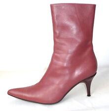 FORNARINA TG 38 PELLE stivaletti stivali stivali di pelle stivali rosa tacco alto