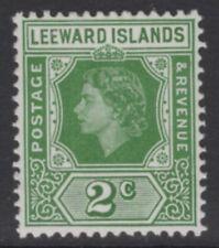 LEEWARD ISLANDS SG128 1954 2c GREEN MNH