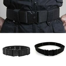 QUICK RELEASE Military Trouser BELT Army Tactical Canvas Webbing Black. Gift