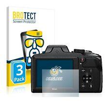 3x Nikon Coolpix B600 AirGlass Glass Screen Protector Ultra Thin Protection Film