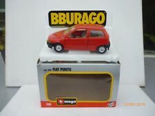 FIAT PUNTO BURAGO 1:24 IN NICE FERRARI RED  NM BOXED RARE SELTEN!