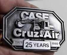 CASE CRUZ AIR EXCAVATOR 1965-1990 BELT BUCKLE PEWTER NEW LOADER BACK HOE