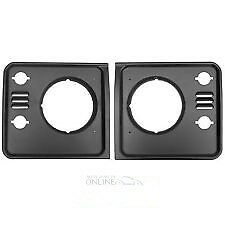 Land Rover Defender - Headlamp Surrounds (2) - DHH100780/90PUC