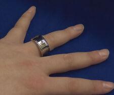 Superman Spinning Emblem Steel Ring Size 10  New  B