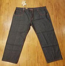 PAG Denim Collection Men's Denim Indigo/red 54 X 33  Straight Leg Baggy NWT