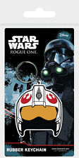 Porte Clés Star wars Rogue One Rebel helmet official rubber keychain
