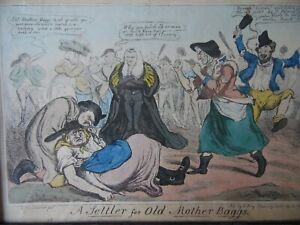 Irish Interest, A Settler for Old Mother Baggs, Sharpshooter Caricature 1829