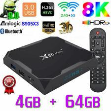 2020 X96 MAX+ Android 9.0 TV Box 4GB+64GB Amlogic S905X3 5Ghz Dual WIFI HDMI UK
