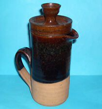 Ursula Wachter ? Studio Pottery - Tall Cylindrical Stoneware Coffee Pot (M.Mark)