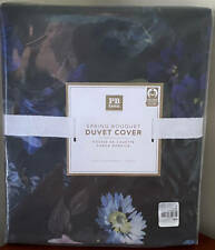 Pottery Barn Teen Spring Bouquet TWIN Duvet Cover ~ Black Multi