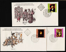 X3 1978 Bulgria International Council of Museums FDC Sc#2495-6, 2500 Signed