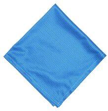Wurkin Stiffs Blue Mens Microfiber Chevron Print Pocket Square 5313