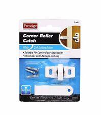 2 x Prestige CORNER ROLLER CATCH Self-Guiding Action Door Cabinet WHITE