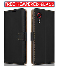 Wallet Leather Case For Samsung Galaxy XCover 5 Flip & Glass Screen Protector