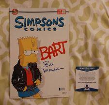 Bill Morrison signed autographed Simpsons Comic Book Beckett BAS COA #U29505