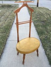 Mid Century Danish Modern Babcock Phillips Solid Maple Valet Butler Chair