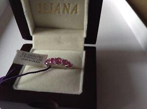 'ILIANA.' Gorgeous 2.50ct AAA Pink Sapphire and Diamond18k Gold