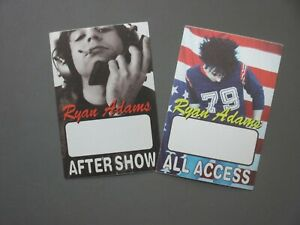 Ryan Adams backstage passes TWO AUTHENTIC All Access & After Show !
