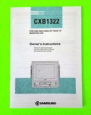 """Samsung Cxb1322 13"""" Monitor - Vcr Combo Original Manual"""