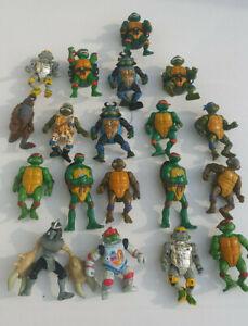 Lot of 19 Vintage Teenage Mutant Ninja Turtles Action Figures 1980's 1990's tmnt