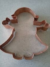 """Copper Gingerbread GIRL with """"Hair"""" or Pilgrim with hat  Cookie Cutter many uses"""