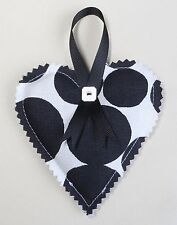 Handmade hanging lavender heart. Printed cotton. 10cm by 10cm.