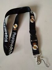 Real Madrid club Real Madrid lanyard quality details. * black