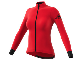 Adidas climaheat cycling winter jersey Women Jacket Red Reflective BR9935