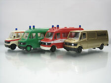 Lot of 4 Herpa Plastic HO Cars 1/87 Mercedes-Benz 207 D Transporter Bus