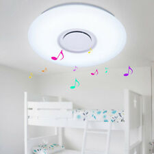 New ListingDimmable Led Ceiling Fixtures Colorful Light w/ Bluetooth Speaker Lamp Shades+Rc