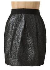 Anthropologie Leifsdottir Black Metallic Cobblestone Jacquard Skirt 10