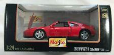 """Red Ferrari 348 TS (1990) Maisto 1/24 Scale Car  """"Special Edition"""""""
