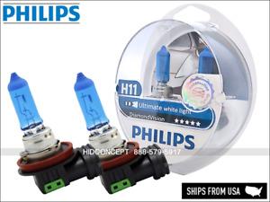 Philips Diamond Vision White 5000K H11 12362DVS2 Low Beam Bulbs Pack of 2