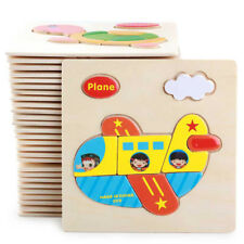1X Wooden Puzzle Jigsaw Cartoon Baby Kids Educational Learning Tool Sets Toy