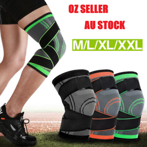 Weaving 3D Knee Brace Breathable Sleeve Gym Sports Running Jogging Joint Pain