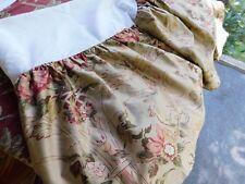 "RALPH LAUREN HOME Guinevere King Bed Skirt Dust Ruffle  16"" Sateen Perfect"