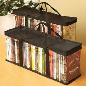 Dustproof Large Clear Waterpoof Hold DVD CD Storage Books Holder Zip Carry Bag