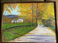 "Betty Berry Spatz 1986 ""Autumn Landscape Scene"" Oil Painting - Framed/Signed"