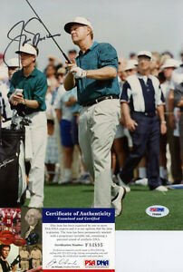 JACK NICKLAUS GOLF LEGEND PGA AUTOGRAPHED-SIGNED COLOR 8X10 PHOTO PSA/DNA