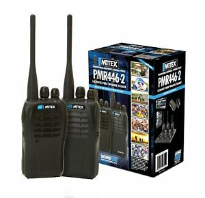 MITEX PMR446 TWIN PACK UHF LICENSE FREE HANDHELD TWO WAY RADIO