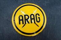 wunderschöne altes ARAG Emaille Plakette Kühlergrill seltenes Sammlerstück