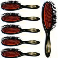 6 X Hair Extension Brush, Head Jog 101,Rubber Cushion, Nylon Bristle, Salon