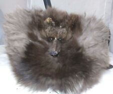 Antique Fox Fur Muff Hand Warmer Rare Silver And Brown With Face