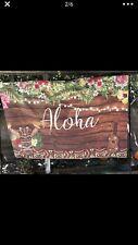 7X5FT Vinyl Aloha Backdrop