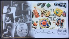 MICHAEL CAINE Actor-Film Icon Signed 9.1.2007 Beatles FDC M/S Drums Penny Lane,